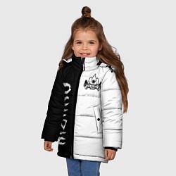 Куртка зимняя для девочки KIZARU цвета 3D-черный — фото 2