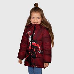 Куртка зимняя для девочки Harley Quinn цвета 3D-черный — фото 2