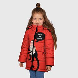 Куртка зимняя для девочки Marcel the monkey цвета 3D-черный — фото 2