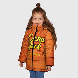 Детская зимняя куртка для девочки с принтом Cactus Jack, цвет: 3D-черный, артикул: 10199295306065 — фото 2