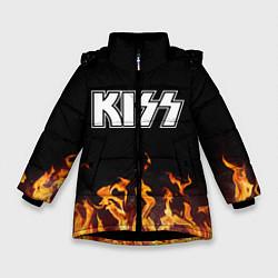 Куртка зимняя для девочки Kiss: Hell Flame цвета 3D-черный — фото 1