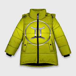 Куртка зимняя для девочки Gemini Близнецы цвета 3D-черный — фото 1