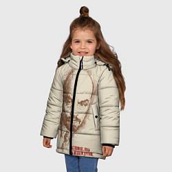 Куртка зимняя для девочки Ленин цвета 3D-черный — фото 2