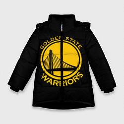 Куртка зимняя для девочки GOLDEN STATE WARRIORS цвета 3D-черный — фото 1