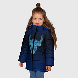 Куртка зимняя для девочки Знаки Зодиака Телец цвета 3D-черный — фото 2
