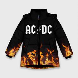 Куртка зимняя для девочки AC DC цвета 3D-черный — фото 1