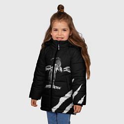 Куртка зимняя для девочки XXXTENTACION SKINS цвета 3D-черный — фото 2