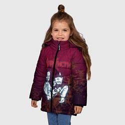Куртка зимняя для девочки Агата Кристи цвета 3D-черный — фото 2