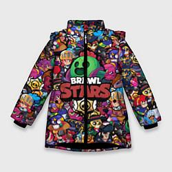 Куртка зимняя для девочки BRAWL STARS SPIKE цвета 3D-черный — фото 1