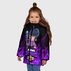 Куртка зимняя для девочки BRAWL STARS BIBI цвета 3D-черный — фото 2