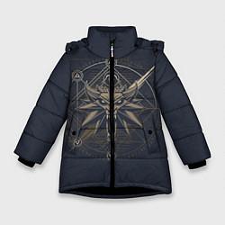 Куртка зимняя для девочки Ведьмак 3: Дикая Охота цвета 3D-черный — фото 1