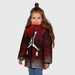 Куртка зимняя для девочки JORDAN AIR SPACE цвета 3D-черный — фото 2