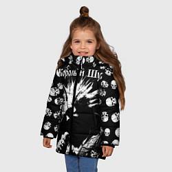 Куртка зимняя для девочки Король и Шут Анархия спина цвета 3D-черный — фото 2
