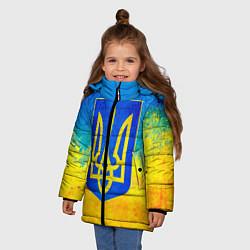 Куртка зимняя для девочки Флаг цвета 3D-черный — фото 2