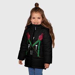 Куртка зимняя для девочки Пайтон Мурмайер цвета 3D-черный — фото 2