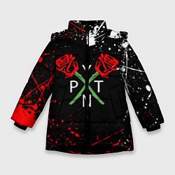 Куртка зимняя для девочки Payton Moormeier цвета 3D-черный — фото 1