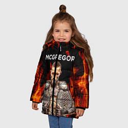 Куртка зимняя для девочки CONOR McGREGOR цвета 3D-черный — фото 2