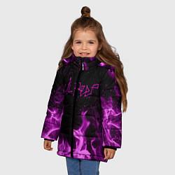 Куртка зимняя для девочки LIL PEEP FIRE цвета 3D-черный — фото 2