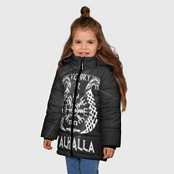Куртка зимняя для девочки Valhalla цвета 3D-черный — фото 2