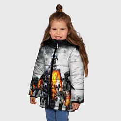 Куртка зимняя для девочки Battlefield цвета 3D-черный — фото 2