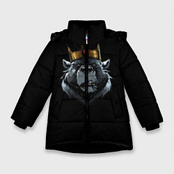 Куртка зимняя для девочки King цвета 3D-черный — фото 1