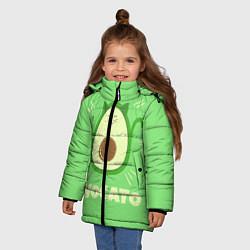 Куртка зимняя для девочки Авокато цвета 3D-черный — фото 2
