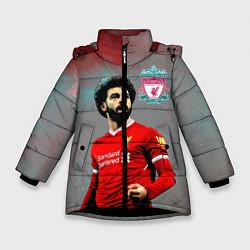 Куртка зимняя для девочки Mohamed Salah цвета 3D-черный — фото 1