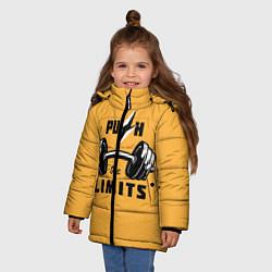 Куртка зимняя для девочки Раздвинь границы цвета 3D-черный — фото 2
