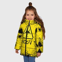 Куртка зимняя для девочки NСov цвета 3D-черный — фото 2
