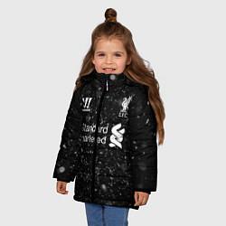 Куртка зимняя для девочки Liverpool цвета 3D-черный — фото 2