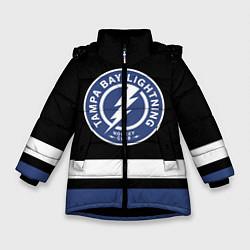 Куртка зимняя для девочки Тампа-Бэй Лайтнинг цвета 3D-черный — фото 1