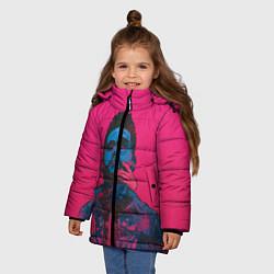 Куртка зимняя для девочки The Weekend цвета 3D-черный — фото 2