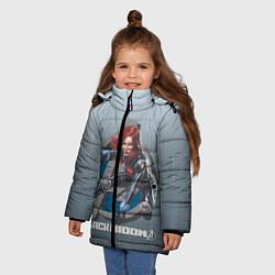 Куртка зимняя для девочки Черная вдова цвета 3D-черный — фото 2