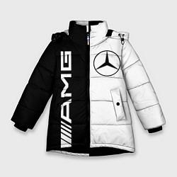 Куртка зимняя для девочки MERCEDES AMG цвета 3D-черный — фото 1