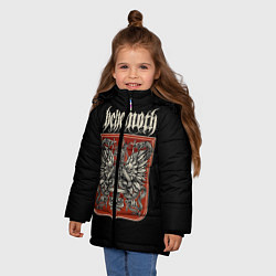 Куртка зимняя для девочки Behemoth цвета 3D-черный — фото 2