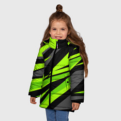 Куртка зимняя для девочки Форма для фитнеса цвета 3D-черный — фото 2