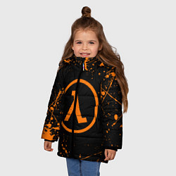 Куртка зимняя для девочки HALF-LIFE цвета 3D-черный — фото 2