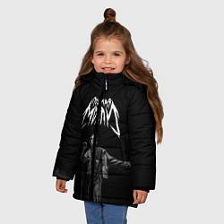 Куртка зимняя для девочки ПОШЛАЯ МОЛЛИ цвета 3D-черный — фото 2