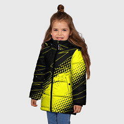 Куртка зимняя для девочки Bona Fide Одежда для фитнеcа цвета 3D-черный — фото 2