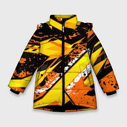 Куртка зимняя для девочки Bona Fide цвета 3D-черный — фото 1