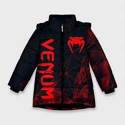 Куртка зимняя для девочки VENUM цвета 3D-черный — фото 1