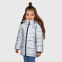 Куртка зимняя для девочки Delos цвета 3D-черный — фото 2