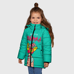 Куртка зимняя для девочки NILETTO: Любимка цвета 3D-черный — фото 2