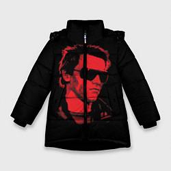 Куртка зимняя для девочки The Terminator 1984 цвета 3D-черный — фото 1