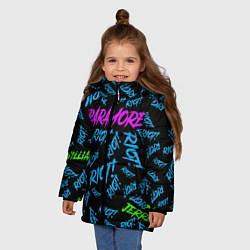Куртка зимняя для девочки Paramore RIOT! цвета 3D-черный — фото 2