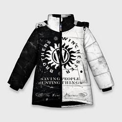 Куртка зимняя для девочки Winchester Brothers цвета 3D-черный — фото 1
