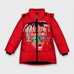 Детская зимняя куртка для девочки с принтом Juice WRLD, цвет: 3D-черный, артикул: 10213235906065 — фото 1