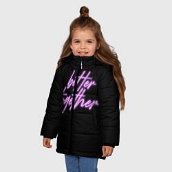 Куртка зимняя для девочки Вместе лучше цвета 3D-черный — фото 2