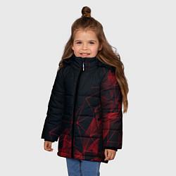 Куртка зимняя для девочки RED STRIPES цвета 3D-черный — фото 2