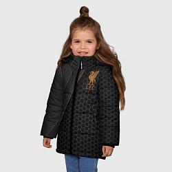 Куртка зимняя для девочки Liverpool FC цвета 3D-черный — фото 2